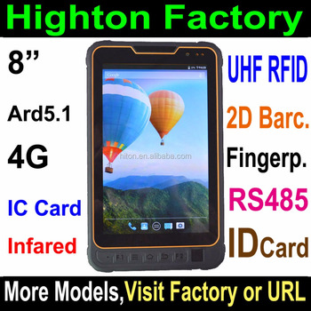 factory original 4G LTE android NFC Barcode IC card fingerprint scanner tablet pc with fingerprint UHF RFID computer