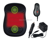 Electric Massage And Heated Back Support With Handheld Controller