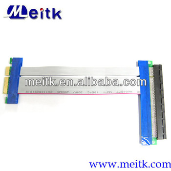 PCI-E 4x to 16x Riser Card Extender Ribbon Flex Cable