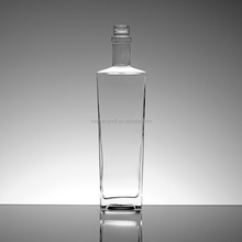 French fresh square glass beverage bottle wholesale