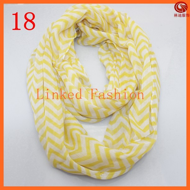 fashion lady yellow knit chevron scarf 100% polyester scarf HY1018