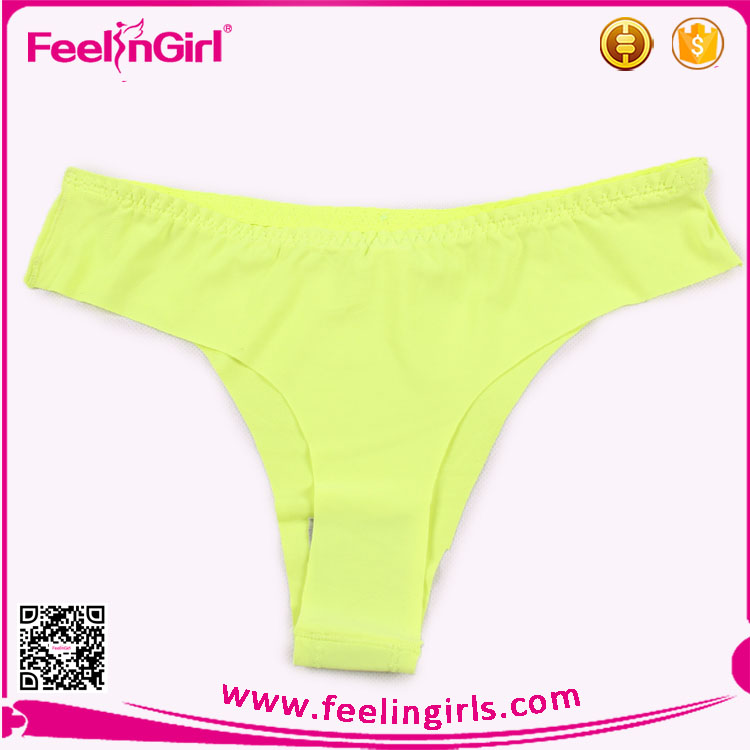 Yellow Transparent Underwear Teen Sexy Girls Briefs
