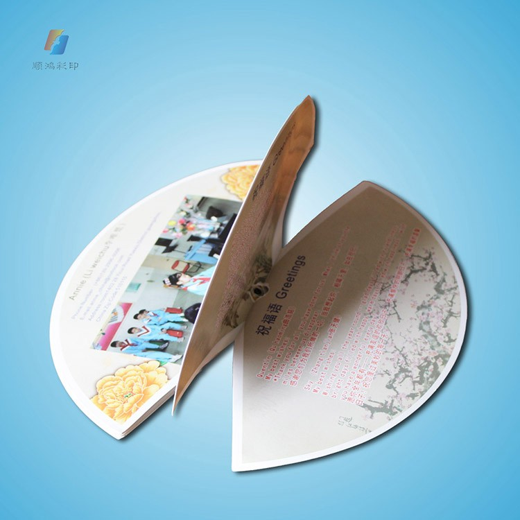 Die Cut Fan Shaped Cheap Round Brochure Printing With Factory Price Bulk Wholesale