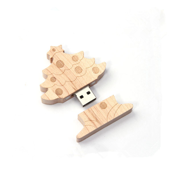 USB Flash Drives Pendrive High Speed Memory Stick U-Disk Woody Christmas Tree 16GB