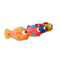 squirt baby bath toy animal, colorful fish