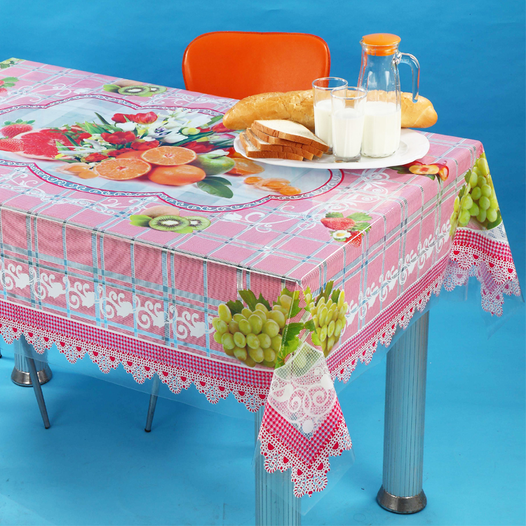 PVC transparent table cloth independent