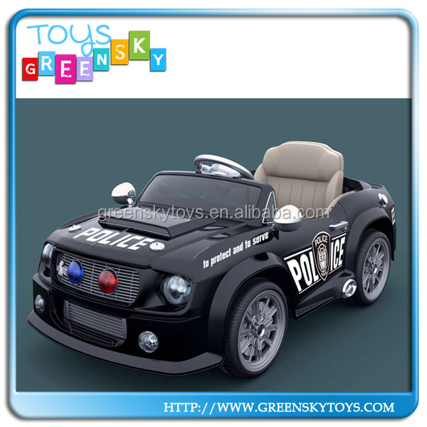 Electric car 2.4G 12V police remote control rc ride on car