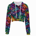 Fashion flower print running sport hoodie clothes