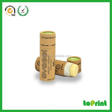 Custom lip balm packaging boxes push up paper tubes with logo print
