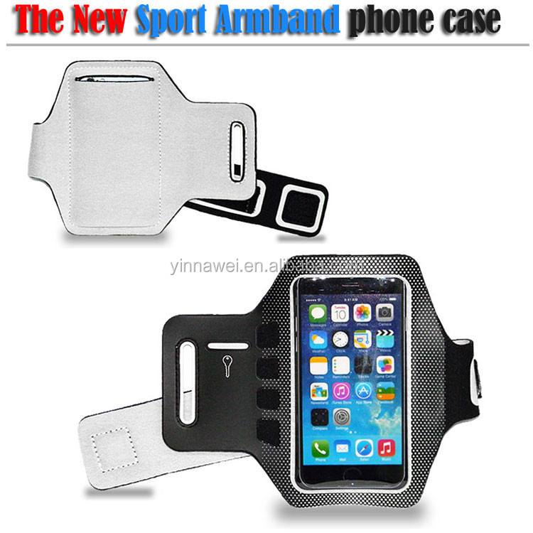 Neoprene sports Black cell phone MP3 Armband Hold case