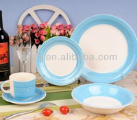 30pcs ceramic handpainting light Blue and white dinner set