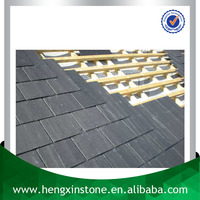China Factory Direct Sales Cheap 40*20*0.5cm Natural Rectangle Black Slate Roof Slate Tile