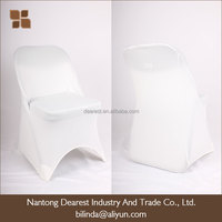 cheap white /black spandex outdoor folding chair cover for wedding