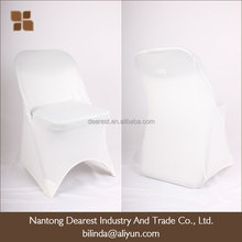 white /black spandex outdoor folding chair cover for wedding