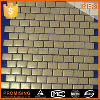 2014 hot sale natural backsplash decorative metal mix glass mosaic tile