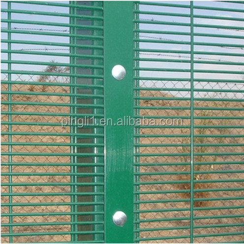 Anti climb grille fence high risk site guard against theft boundary fencing 358 high security fences