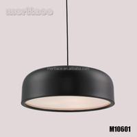 Black drum shade aluminum indoor pendant light for home