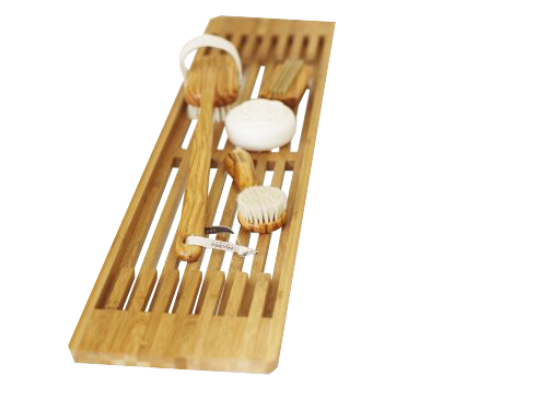 Modern wooden bamboo bathtub caddy bath rack