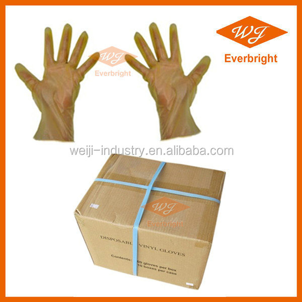 Supply Household Disposable Clear Vinyl Gloves In Designed Boxes