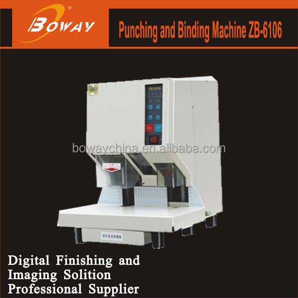 Boway 6106 punching and binding rivet financial binding machine
