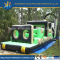 High quality funny Green and black inflatable obstacle for sale/cheap out door inflatable castle for kids