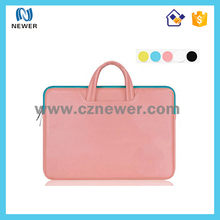 High quality eco waterproof15 inch neoprene laptop sleeve with handle