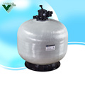 6 position valve top mount fiberglass sand filter for swimming pool water treatment