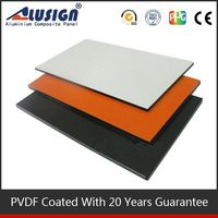 Alusign decorative material and good quality acp good price curve lowes sheet metal roofing