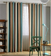 100% polyester stripe blackout chenille curtain fabric, used home and hotel curtains