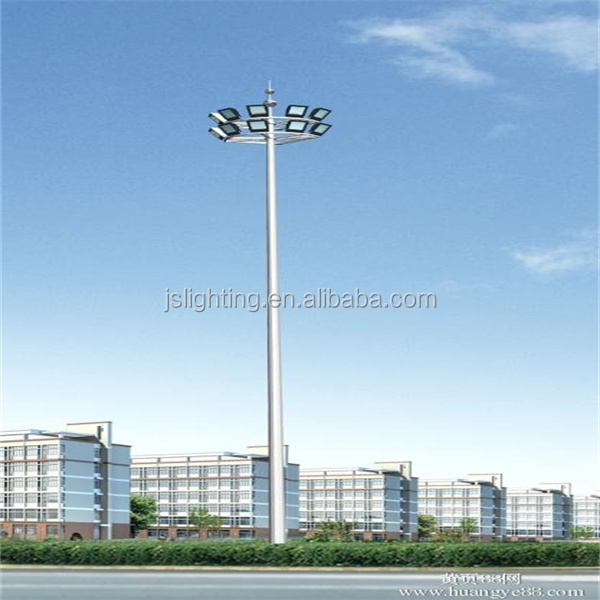 Best price Q235 steel galvanized 15m-50m high mast lighting