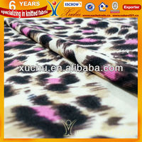 T/R Polyester And Rayon Leopard-Print Jersey Knitted Fabric For Ladies