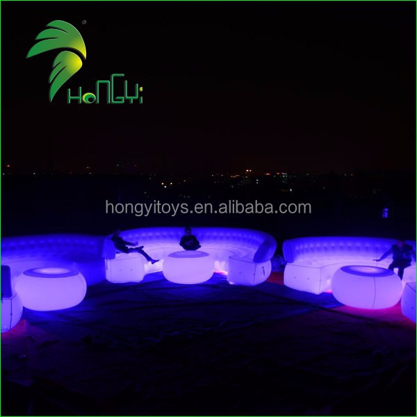 High Quality 4m Inflatable LED Sofa Inflatable Furniture Air Sofa Bed For Sale