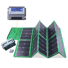 waterproof power kit 300W sunpower folding solar panel for 230V for camping , car, solar powered boat etc.