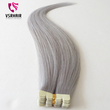 Best quality cuticle aligned hair ,human gray hair color, remy hair hair extensions
