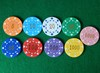Good quality professional plastic clay poker chip with metal inside