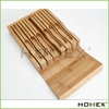 Bamboo Kitchen Knife Storage Block Knife Organizer & Holder Homex BSCI/Factory