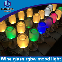 Langma graceful Lighting up glowing led cups wineglass flashing cup glass led cup wine glass for party