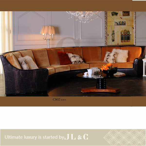 New luxury genuine leather corner sofa with oxhide leather, JS02 set from china supplier-JL&C Furniture