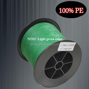 High quality 0.20mm 8weaves Braided fishing line of 2000m/PC