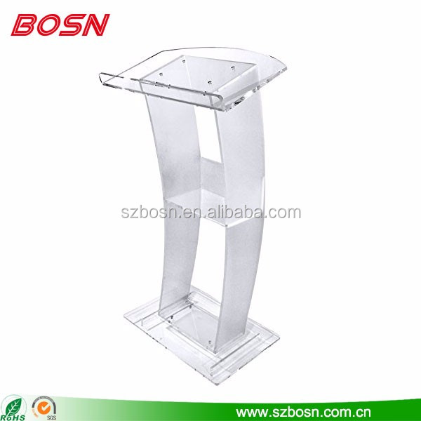 modern design clear tabletop podiums lecterns church speech