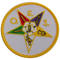 MASONIC ORDER OF THE EASTERN STAR EMBROIDERED PATCH BADGE