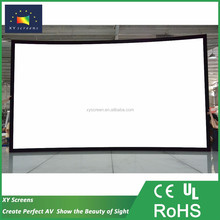 100 inch 3d curve fixed frame projection film/screen and home lcd projector screen