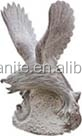 outdoor large stone eagle statues