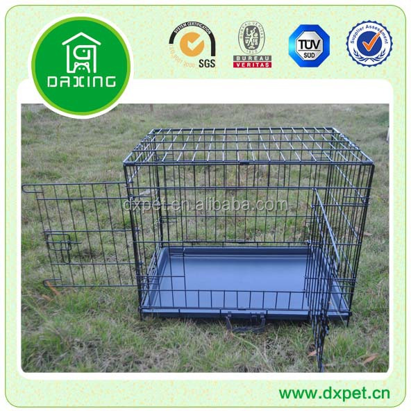 Large steel aluminum plastic welded wire dog cage