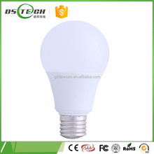 Milky plastic LED housing 7W e27 80lm/W LED ball bulb