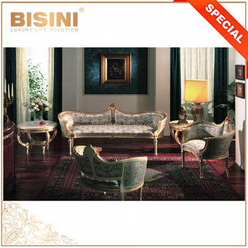 Elegant Floral Garden Design Printed Fabric Sofa Set, Wing Arm European Country Side Style Sofa Set