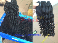 Most popular Superior Quality 7A grade 100% virgin brazilian deep curly hair weave