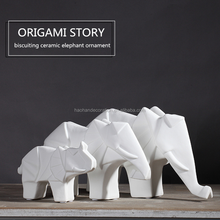 Home decorative modern ceramic painted elephants