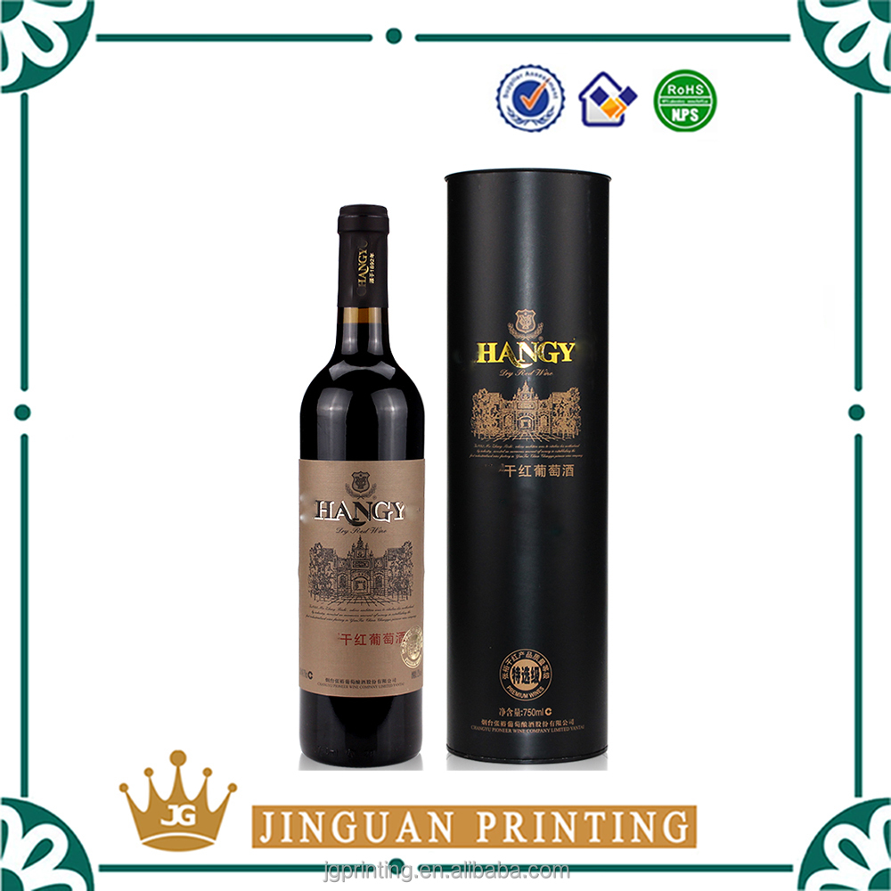 Custom printing high quality cardboard paper packaging cheap wine box