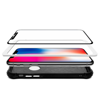 Case Friendly 5D Curved 0.2mm 9H Mirror Tempered Glass film protector screen for iPhone X 10